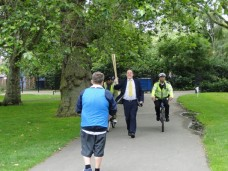 July 17, 2012 - Olympic Torch relay race with Rt Hon Simon Hughes